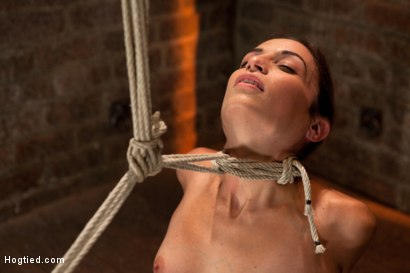 Photo number 5 from Sexy Amber has her elbows bound together, ankles to neck, and endures foot caning, brutal orgasms. shot for Hogtied on Kink.com. Featuring Isis Love and Amber Rayne in hardcore BDSM & Fetish porn.