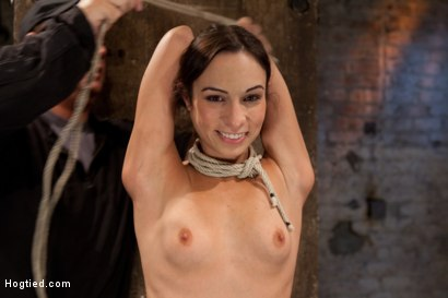Photo number 11 from Tiny flexible brunette suffers a Category 5 suspension while being made to cum over and over! shot for Hogtied on Kink.com. Featuring Isis Love and Amber Rayne in hardcore BDSM & Fetish porn.
