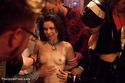 Photo number 22 from Halloween: Part One shot for The Upper Floor on Kink.com. Featuring Juliette March, Skin Diamond, Dylan Ryan, Krysta Kaos, Lilla Katt, Derrick Pierce, Maestro Stefanos and Jack Hammer in hardcore BDSM & Fetish porn.