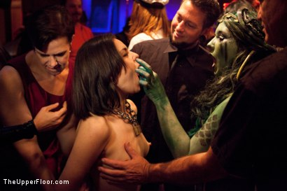 Photo number 8 from Halloween: Part One shot for The Upper Floor on Kink.com. Featuring Juliette March, Skin Diamond, Dylan Ryan, Krysta Kaos, Lilla Katt, Derrick Pierce, Maestro Stefanos and Jack Hammer in hardcore BDSM & Fetish porn.