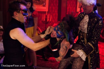 Photo number 14 from Halloween: Part Two shot for The Upper Floor on Kink.com. Featuring Juliette March, Skin Diamond, Dylan Ryan, Krysta Kaos, Lilla Katt, Derrick Pierce, Maestro Stefanos and Jack Hammer in hardcore BDSM & Fetish porn.