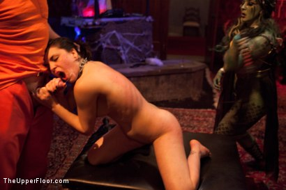 Photo number 8 from Halloween: Part Two shot for The Upper Floor on Kink.com. Featuring Juliette March, Skin Diamond, Dylan Ryan, Krysta Kaos, Lilla Katt, Derrick Pierce, Maestro Stefanos and Jack Hammer in hardcore BDSM & Fetish porn.