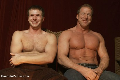 Photo number 15 from Live Shoot: It's the best Xmas Party ever!!! shot for Bound in Public on Kink.com. Featuring Christian Wilde, Brian Bonds and Derek Pain in hardcore BDSM & Fetish porn.