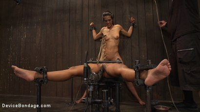 Photo number 14 from Machine fucked with zipper inducing orgasms shot for Device Bondage on Kink.com. Featuring Skin Diamond and Lyla Storm in hardcore BDSM & Fetish porn.