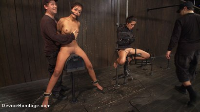 Photo number 13 from Devastating orgasms destroy the insatiable  shot for Device Bondage on Kink.com. Featuring Skin Diamond and Lyla Storm in hardcore BDSM & Fetish porn.