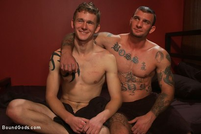 Photo number 15 from Who is Using Whom? shot for Bound Gods on Kink.com. Featuring Cole Brooks and Ricky Sinz in hardcore BDSM & Fetish porn.
