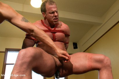 Photo number 10 from Derek Pain - The only competitive bodybuilder in the world who could handle the one leg suspension. shot for Men On Edge on Kink.com. Featuring Derek Pain in hardcore BDSM & Fetish porn.