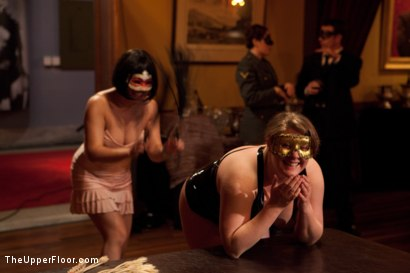 Photo number 1 from Community Dinner shot for The Upper Floor on Kink.com. Featuring Alexxa Bound, Dylan Ryan and Maestro Stefanos in hardcore BDSM & Fetish porn.
