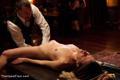 Photo number 11 from Community Dinner shot for The Upper Floor on Kink.com. Featuring Alexxa Bound, Dylan Ryan and Maestro Stefanos in hardcore BDSM & Fetish porn.
