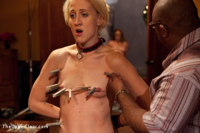 Photo number 16 from Community Dinner shot for The Upper Floor on Kink.com. Featuring Alexxa Bound, Dylan Ryan and Maestro Stefanos in hardcore BDSM & Fetish porn.