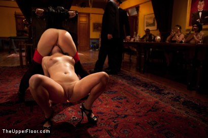 Photo number 21 from Community Dinner shot for The Upper Floor on Kink.com. Featuring Alexxa Bound, Dylan Ryan and Maestro Stefanos in hardcore BDSM & Fetish porn.