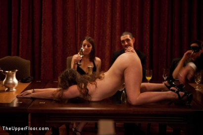 Photo number 22 from Community Dinner shot for The Upper Floor on Kink.com. Featuring Alexxa Bound, Dylan Ryan and Maestro Stefanos in hardcore BDSM & Fetish porn.