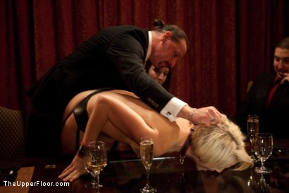 Photo number 23 from Community Dinner shot for The Upper Floor on Kink.com. Featuring Alexxa Bound, Dylan Ryan and Maestro Stefanos in hardcore BDSM & Fetish porn.