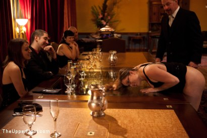 Photo number 24 from Community Dinner shot for The Upper Floor on Kink.com. Featuring Alexxa Bound, Dylan Ryan and Maestro Stefanos in hardcore BDSM & Fetish porn.