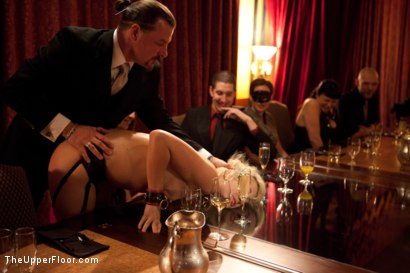 Photo number 25 from Community Dinner shot for The Upper Floor on Kink.com. Featuring Alexxa Bound, Dylan Ryan and Maestro Stefanos in hardcore BDSM & Fetish porn.