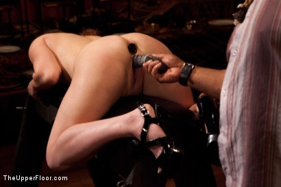 Photo number 4 from Community Dinner shot for The Upper Floor on Kink.com. Featuring Alexxa Bound, Dylan Ryan and Maestro Stefanos in hardcore BDSM & Fetish porn.