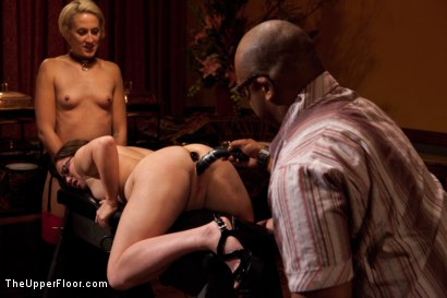 Photo number 5 from Community Dinner shot for The Upper Floor on Kink.com. Featuring Alexxa Bound, Dylan Ryan and Maestro Stefanos in hardcore BDSM & Fetish porn.