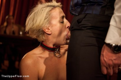 Photo number 8 from Community Dinner shot for The Upper Floor on Kink.com. Featuring Alexxa Bound, Dylan Ryan and Maestro Stefanos in hardcore BDSM & Fetish porn.