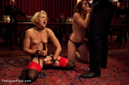 Photo number 9 from Community Dinner shot for The Upper Floor on Kink.com. Featuring Alexxa Bound, Dylan Ryan and Maestro Stefanos in hardcore BDSM & Fetish porn.