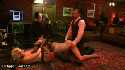 Photo number 16 from Cocktail Party: Squirting shot for The Upper Floor on Kink.com. Featuring Dylan Ryan, Maestro Stefanos and Odile in hardcore BDSM & Fetish porn.