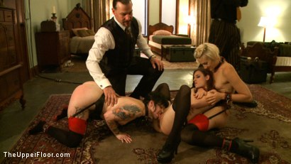 Photo number 5 from Service Session<br>Fisted for the first time shot for The Upper Floor on Kink.com. Featuring Iona Grace, Dylan Ryan, Maestro Stefanos and Sparky Sin Claire in hardcore BDSM & Fetish porn.