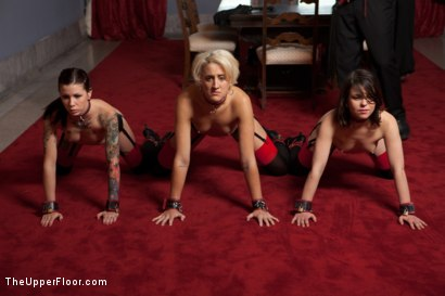 Photo number 13 from Service Session: Cleaning the Halls shot for The Upper Floor on Kink.com. Featuring Krysta Kaos, Dylan Ryan and Juliette March in hardcore BDSM & Fetish porn.