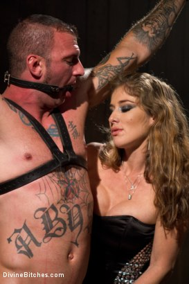 Photo number 13 from Happy Birthday, Felony! shot for Divine Bitches on Kink.com. Featuring Ricky Sinz and Felony in hardcore BDSM & Fetish porn.
