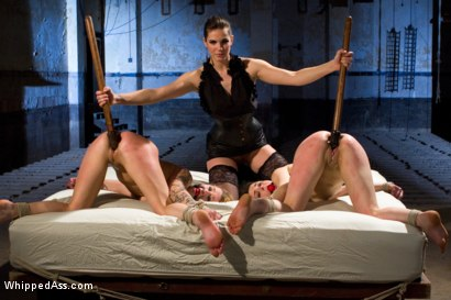 Photo number 10 from For Bobbi Starr's Satisfaction shot for Whipped Ass on Kink.com. Featuring Bobbi Starr, Juliette March and Jessie Cox in hardcore BDSM & Fetish porn.