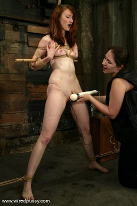 Photo number 5 from Kendra James and Bridgett Harrington shot for Wired Pussy on Kink.com. Featuring Kendra James and Bridgett Harrington in hardcore BDSM & Fetish porn.
