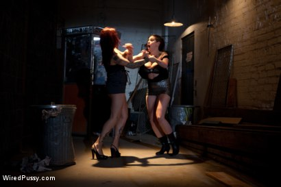 Photo number 3 from Two Bad Girls, One Badass Bitch! shot for Wired Pussy on Kink.com. Featuring Rozen Debowe, Akira Raine and Francesca Le in hardcore BDSM & Fetish porn.