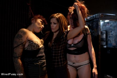 Photo number 7 from Two Bad Girls, One Badass Bitch! shot for Wired Pussy on Kink.com. Featuring Rozen Debowe, Akira Raine and Francesca Le in hardcore BDSM & Fetish porn.