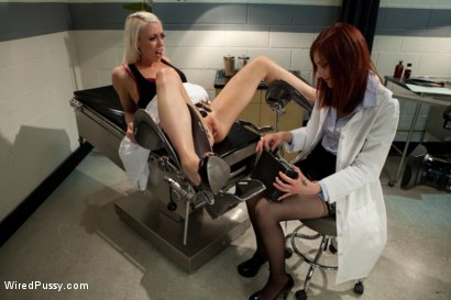 Photo number 2 from Your Doctor Doesn't Always Know Best shot for Wired Pussy on Kink.com. Featuring Lorelei Lee and Phoenix Askani in hardcore BDSM & Fetish porn.