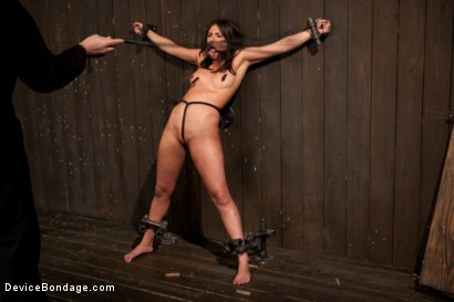 Photo number 13 from N00b getz PWND - first timer suffers intense bondage  shot for Device Bondage on Kink.com. Featuring Casey Calvert in hardcore BDSM & Fetish porn.