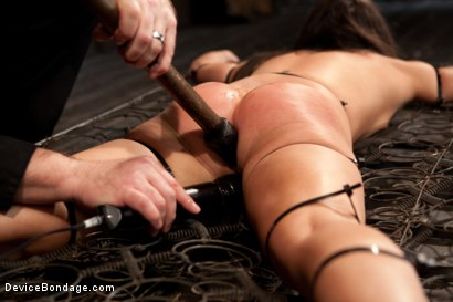 Photo number 8 from N00b getz PWND - first timer suffers intense bondage  shot for Device Bondage on Kink.com. Featuring Casey Calvert in hardcore BDSM & Fetish porn.