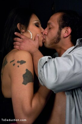 """Photo number 5 from Brand New TS Talent Teighjiana debuts in """"Sex Club Confidential"""" shot for TS Seduction on Kink.com. Featuring Teighjiana and Dutch Bardoux in hardcore BDSM & Fetish porn."""