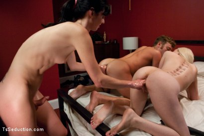 Photo number 9 from Your Cheating Cock will get You Fisted: Mandy Mitchell Doms a Couple shot for TS Seduction on Kink.com. Featuring Mandy Mitchell, Cherry Torn and Sebastian Keys in hardcore BDSM & Fetish porn.