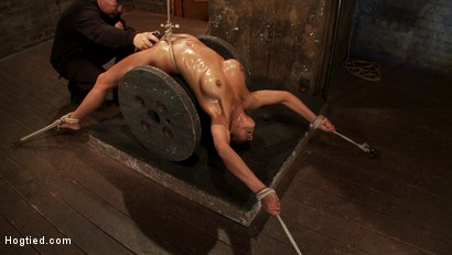 Photo number 10 from Sexy brunette experiences nipple torture, brutal crotch rope and extreme bondage. shot for Hogtied on Kink.com. Featuring Beretta James in hardcore BDSM & Fetish porn.