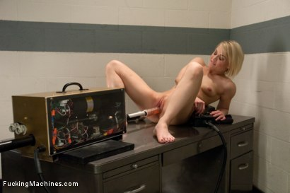 Photo number 6 from Hot Blond Gymnast Stretched and Fucked By Machines Until She SQUIRTS! shot for Fucking Machines on Kink.com. Featuring Ash Hollywood in hardcore BDSM & Fetish porn.