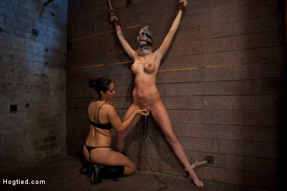 Photo number 15 from Scene 4/4 of Nov's show: Brutal gag, devastating orgasms, a crotch rope from hell! Total suffering! shot for Hogtied on Kink.com. Featuring Isis Love and Kaylee Hilton in hardcore BDSM & Fetish porn.