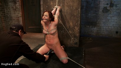 Photo number 11 from Cute 20yr old has elbows tied tight & strappado'd, hair tied back made to cum while totally helpless shot for Hogtied on Kink.com. Featuring Hope Howell in hardcore BDSM & Fetish porn.