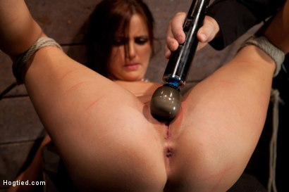 Photo number 9 from Cute 20yr old girl next door, bound with legs up & spread, foot torture, caning, finger banged hard! shot for Hogtied on Kink.com. Featuring Hope Howell in hardcore BDSM & Fetish porn.