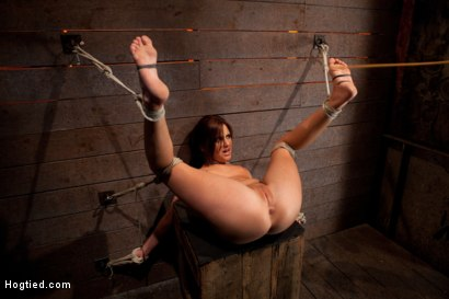 Photo number 10 from Cute 20yr old girl next door, bound with legs up & spread, foot torture, caning, finger banged hard! shot for Hogtied on Kink.com. Featuring Hope Howell in hardcore BDSM & Fetish porn.