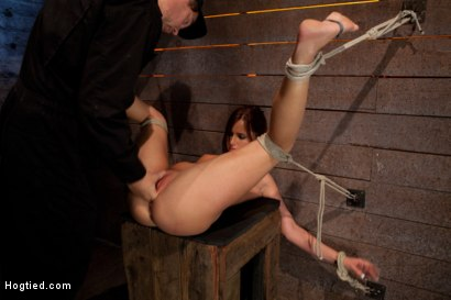 Photo number 11 from Cute 20yr old girl next door, bound with legs up & spread, foot torture, caning, finger banged hard! shot for Hogtied on Kink.com. Featuring Hope Howell in hardcore BDSM & Fetish porn.