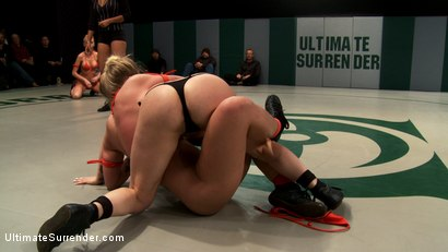 Photo number 4 from 4 girl un-scripted Tag Team wrestling! Shot live, in front of a public audience Brutal sexual action shot for Ultimate Surrender on Kink.com. Featuring Isis Love, Kaylee Hilton, Jessie Cox, Holly Heart and Juliette March in hardcore BDSM & Fetish porn.