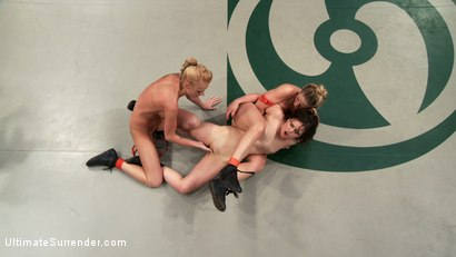 Photo number 1 from Brutal Tag Team Action, submission holds and nasty 2 on 1 action<br>Only 3pts separate these 2 teams shot for Ultimate Surrender on Kink.com. Featuring Isis Love, Kaylee Hilton, Jessie Cox, Holly Heart and Juliette March in hardcore BDSM & Fetish porn.