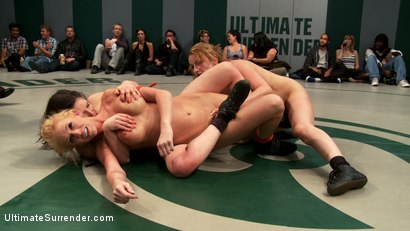 Photo number 14 from Brutal Tag Team Action, submission holds and nasty 2 on 1 action<br>Only 3pts separate these 2 teams shot for Ultimate Surrender on Kink.com. Featuring Isis Love, Kaylee Hilton, Jessie Cox, Holly Heart and Juliette March in hardcore BDSM & Fetish porn.