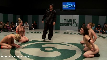 Photo number 2 from 3pts separate these 4 girls in the final wrestling RD<br>Who is going to open the can of whip ass? shot for Ultimate Surrender on Kink.com. Featuring Isis Love, Kaylee Hilton, Jessie Cox, Holly Heart and Juliette March in hardcore BDSM & Fetish porn.