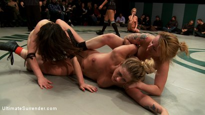 Photo number 7 from 3pts separate these 4 girls in the final wrestling RD<br>Who is going to open the can of whip ass? shot for Ultimate Surrender on Kink.com. Featuring Isis Love, Kaylee Hilton, Jessie Cox, Holly Heart and Juliette March in hardcore BDSM & Fetish porn.