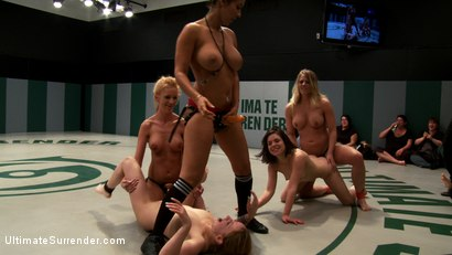 Photo number 10 from 5 girl orgy from the depths of hell<br>Losers skull fucked, brutally fisted, humiliated to the max shot for Ultimate Surrender on Kink.com. Featuring Isis Love, Kaylee Hilton, Jessie Cox, Holly Heart and Juliette March in hardcore BDSM & Fetish porn.