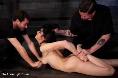 Photo number 14 from Training Asphyxia-Live December Shoot<br>atom's Final Test shot for The Training Of O on Kink.com. Featuring Asphyxia Noir and James Deen in hardcore BDSM & Fetish porn.